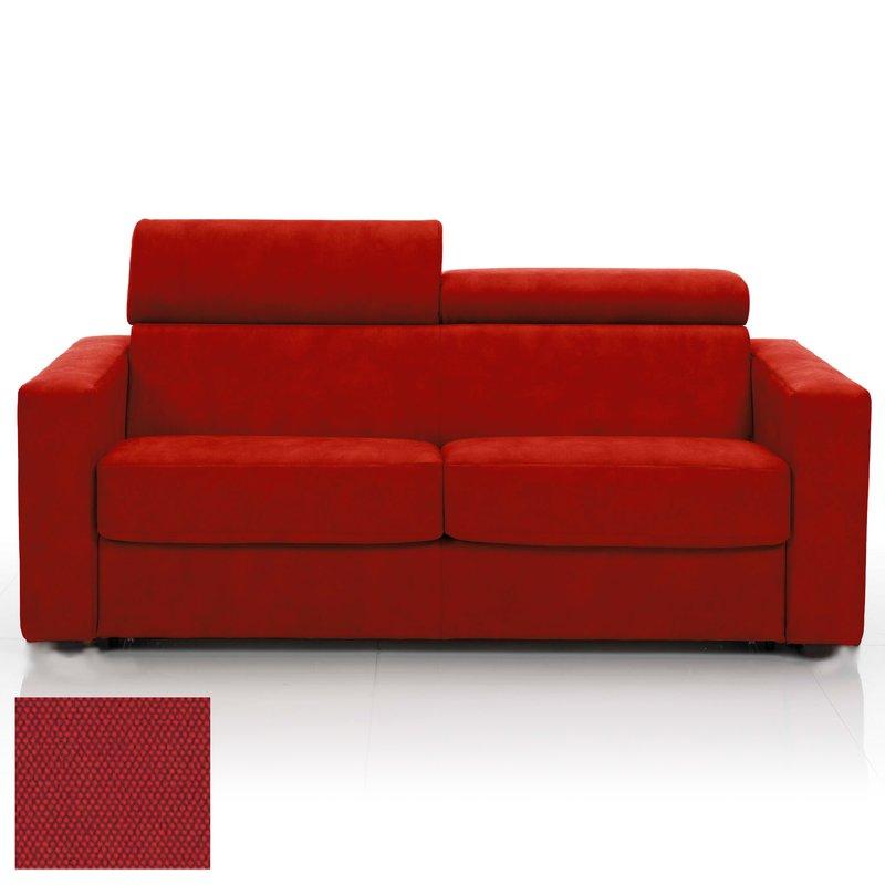 canap convertible 3 places tissu d houssable rouge maison et styles. Black Bedroom Furniture Sets. Home Design Ideas