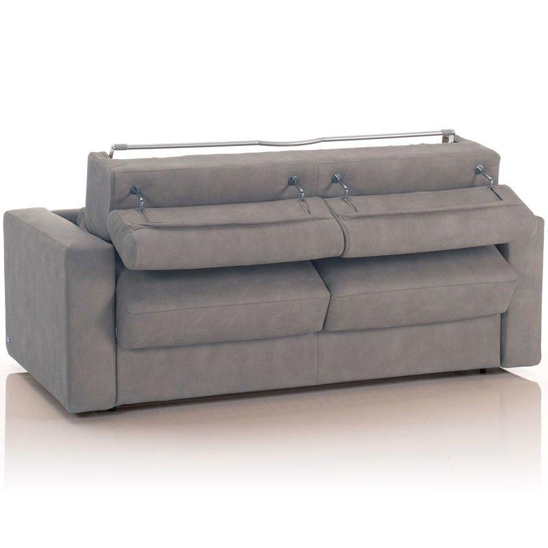 canap convertible 3 places tissu d houssable gris. Black Bedroom Furniture Sets. Home Design Ideas