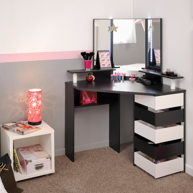 coiffeuse d angle volage. Black Bedroom Furniture Sets. Home Design Ideas