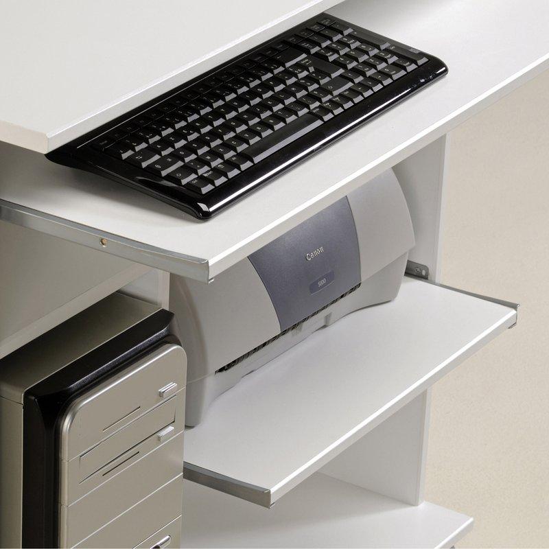desserte informatique sur roulettes coloris blanc brillant maison et styles. Black Bedroom Furniture Sets. Home Design Ideas