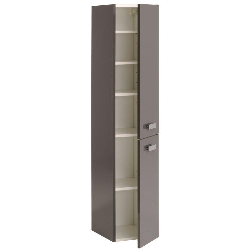 Colonne 2 portes 30x35x145cm coloris gris laqu maison et styles - Colonne 2 portes salle de bain ...