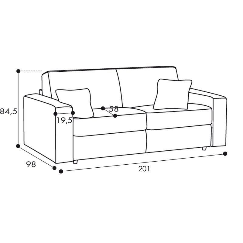 canap 3 places fixe tissu d houssable anthracite maison et styles. Black Bedroom Furniture Sets. Home Design Ideas