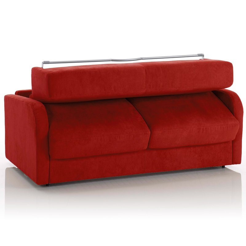 canap convertible 2 places tissu d houssable rouge. Black Bedroom Furniture Sets. Home Design Ideas