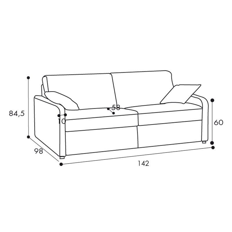 canap convertible 2 places tissu d houssable rouge maison et styles. Black Bedroom Furniture Sets. Home Design Ideas