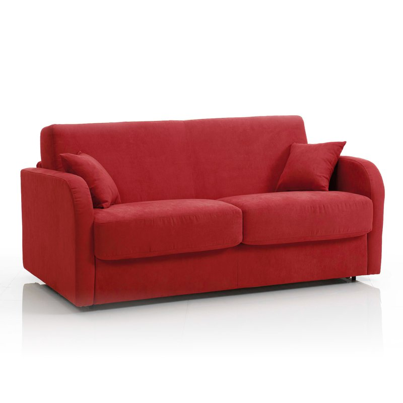Canap Convertible 3 Places Tissu D Houssable Rouge
