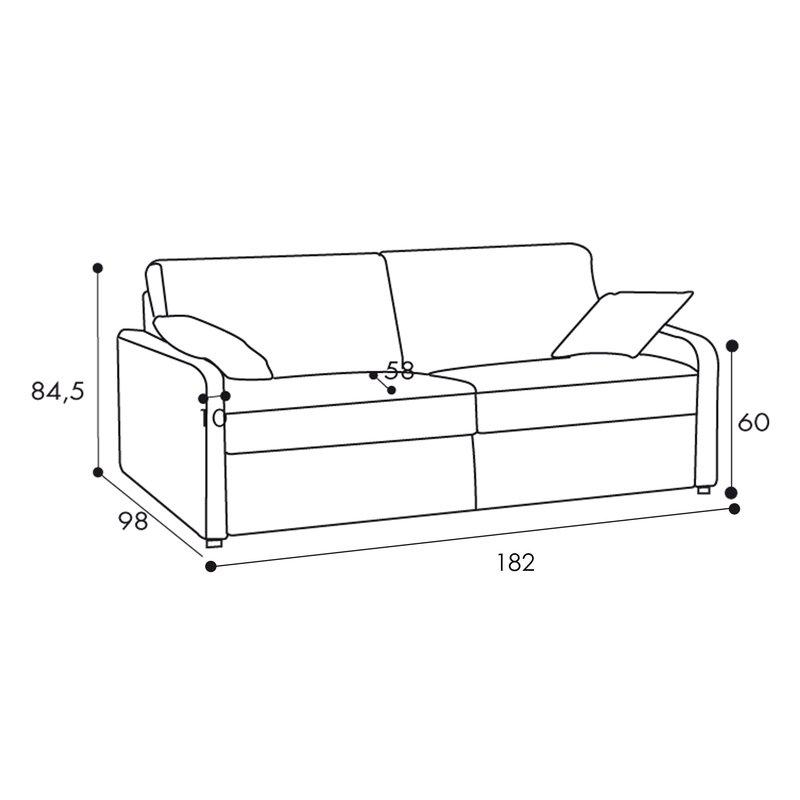 canap convertible 3 places tissu d houssable caf maison et styles. Black Bedroom Furniture Sets. Home Design Ideas