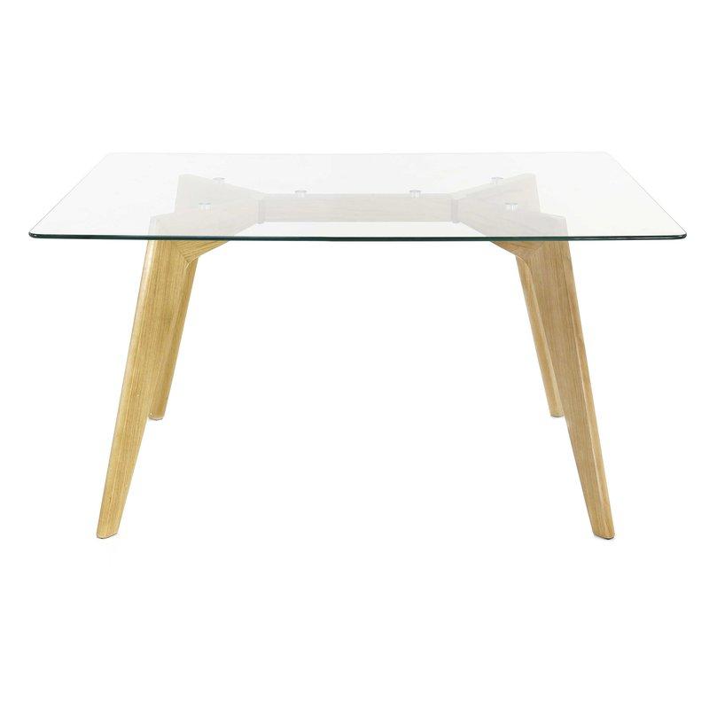 table repas 120cm avec plateau en verre scandino maison et styles. Black Bedroom Furniture Sets. Home Design Ideas
