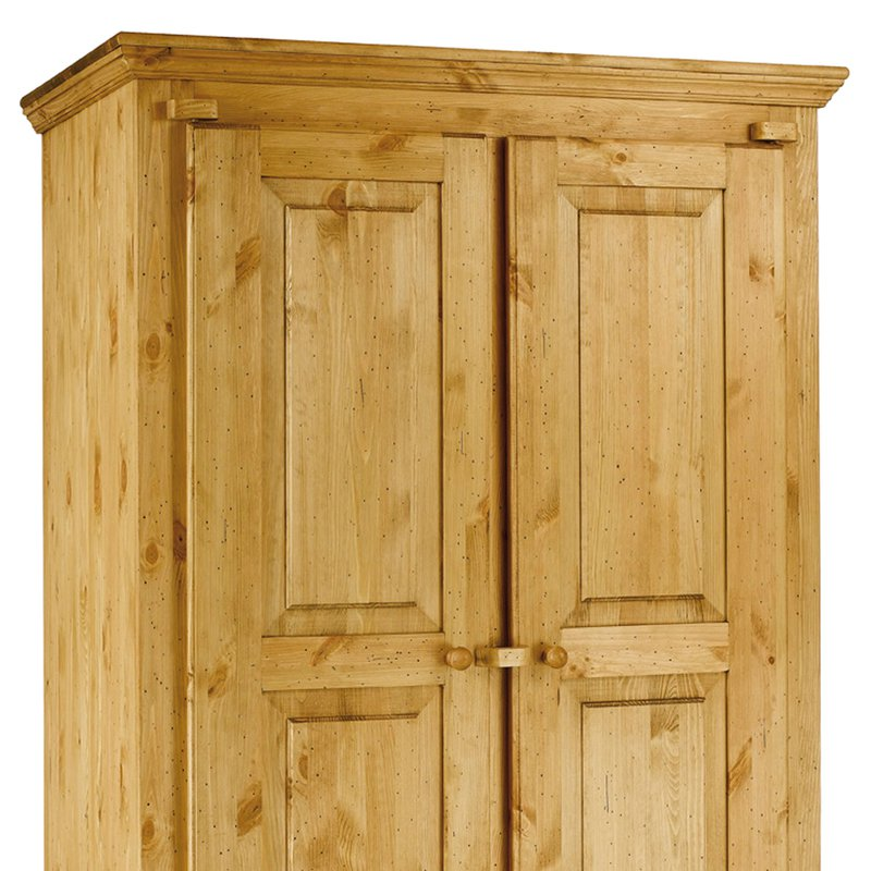 armoire rustique en pin massif 2 portes 1 tiroir farm maison et styles. Black Bedroom Furniture Sets. Home Design Ideas
