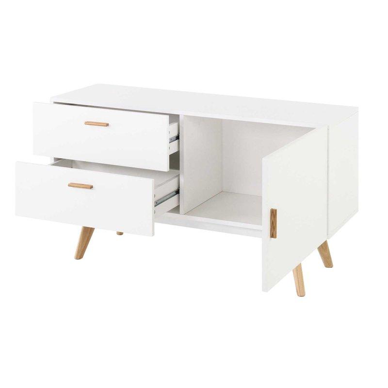 meuble bas 1 porte 2 tiroirs baltiko maison et styles. Black Bedroom Furniture Sets. Home Design Ideas