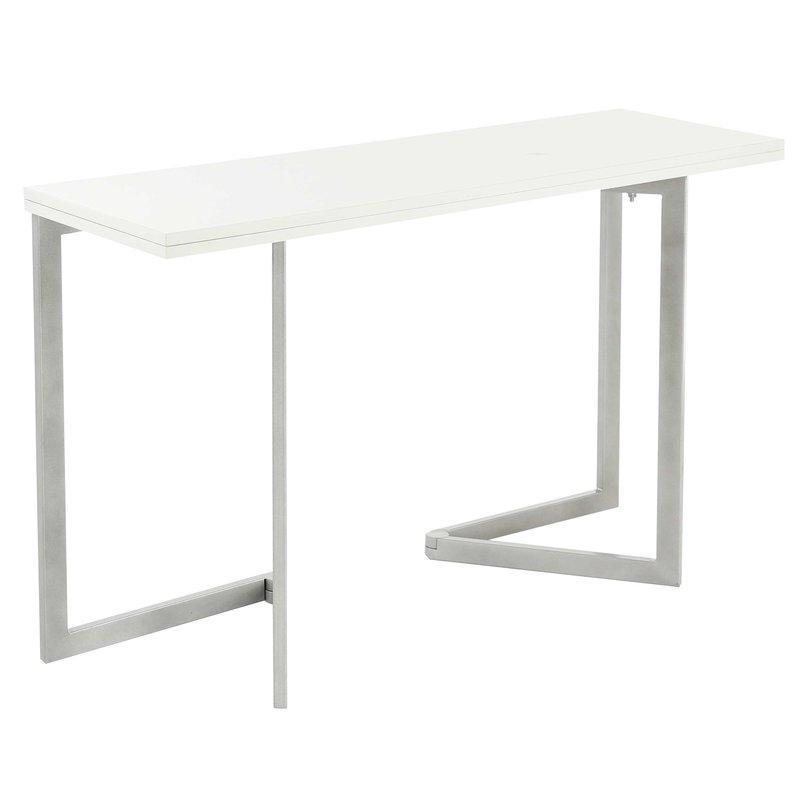 table console extensible coloris blanc bar maison et styles. Black Bedroom Furniture Sets. Home Design Ideas