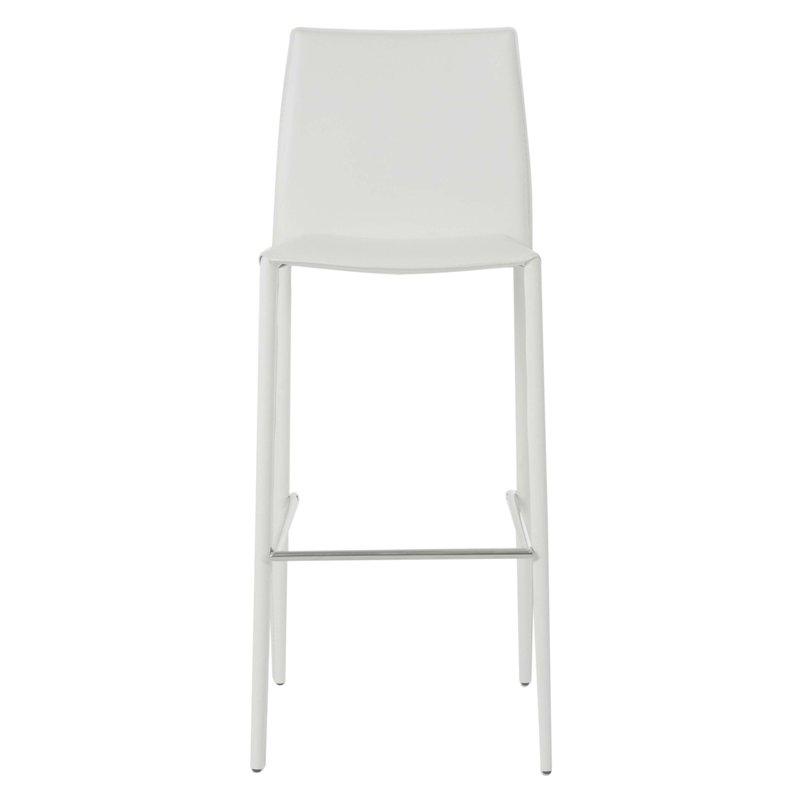 lot de 2 chaises de bar en simili cuir coloris blanc bora bora maison et styles. Black Bedroom Furniture Sets. Home Design Ideas