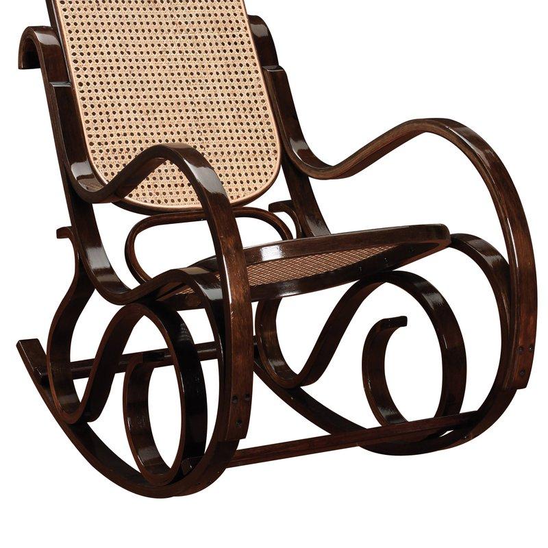 Rocking Chair En Bois Massif Coloris Noyer Maison Et Styles