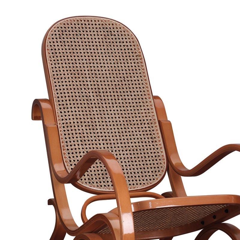 Rocking Chair En Bois Massif Coloris Miel Maison Et Styles
