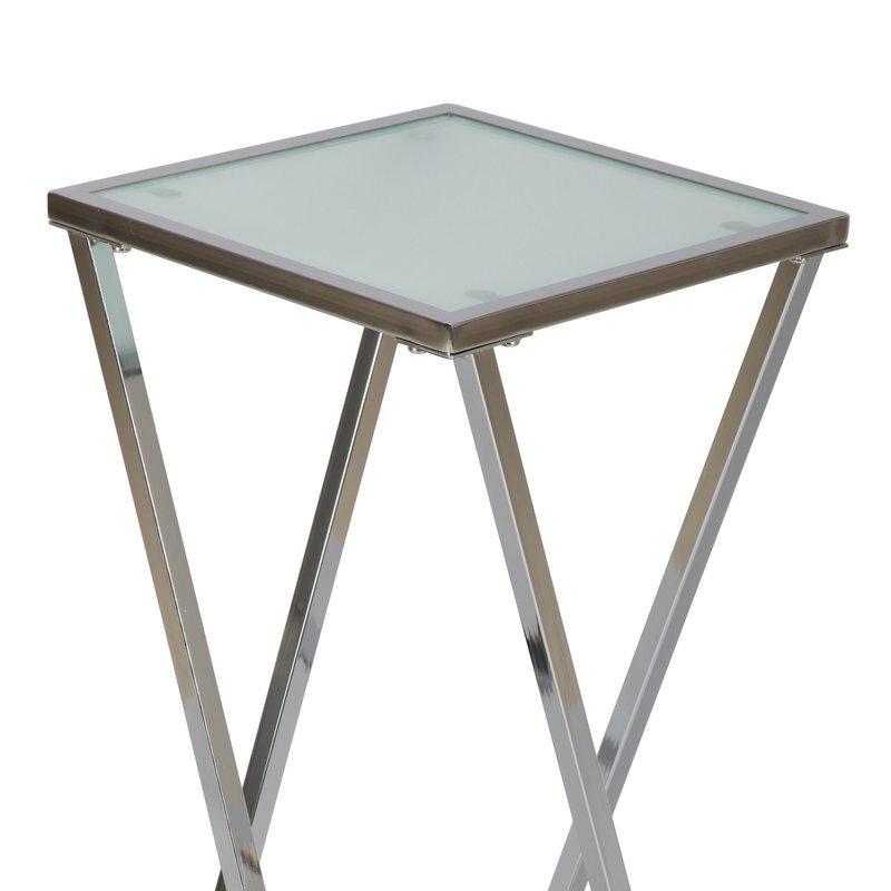 grande sellette en acier et en verre maison et styles. Black Bedroom Furniture Sets. Home Design Ideas