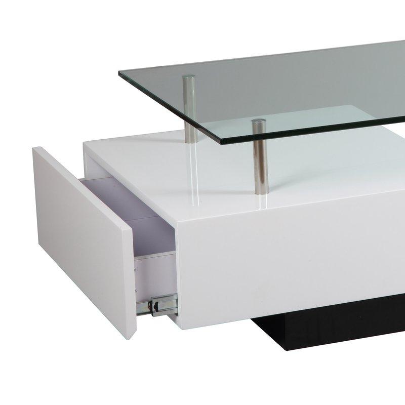 table basse rectangulaire avec 1 tiroir maison et styles. Black Bedroom Furniture Sets. Home Design Ideas