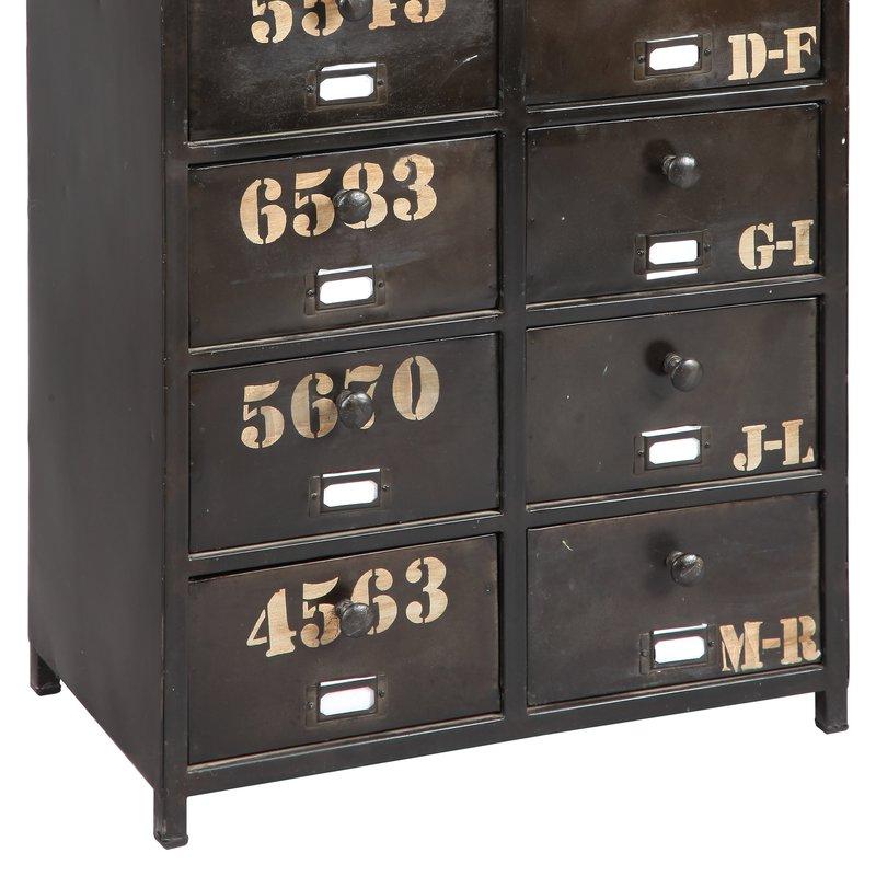 meuble de rangement 10 tiroirs en acier atelier metal maison et styles. Black Bedroom Furniture Sets. Home Design Ideas