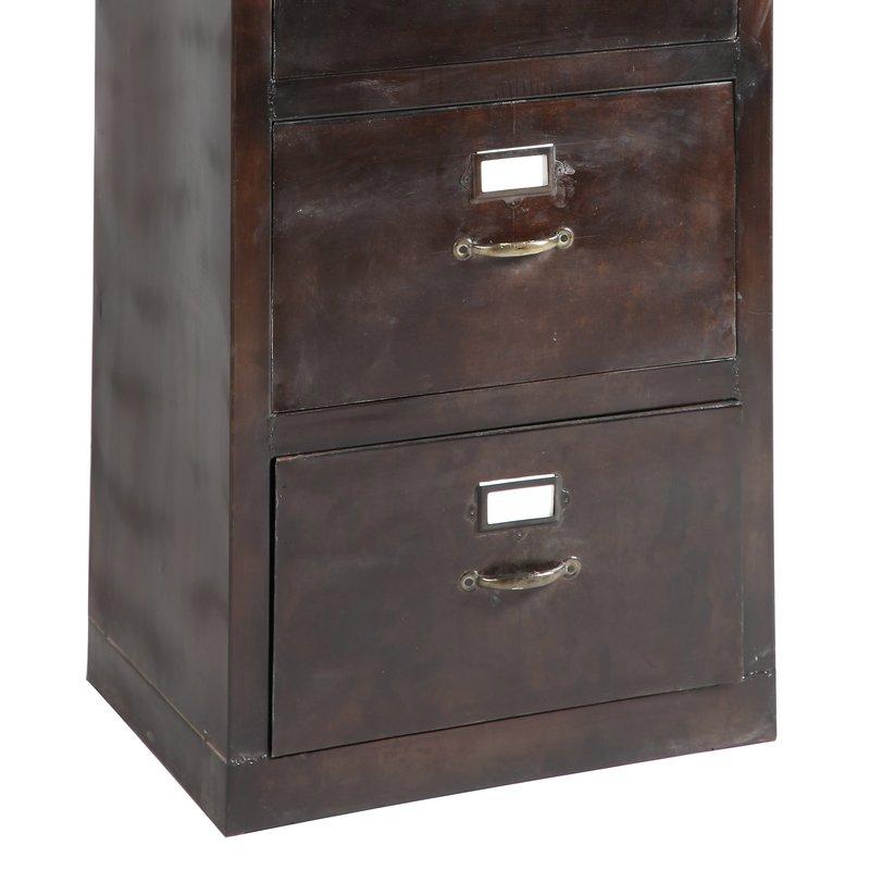 Armoire range dossiers suspendus 4 tiroirs en acier atelier metal maison et styles - Armoire dossiers suspendus ...