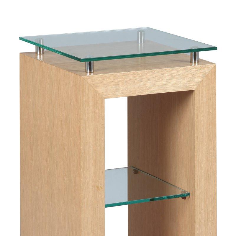 sellette en ch ne massif avec plateaux en verre paseo. Black Bedroom Furniture Sets. Home Design Ideas