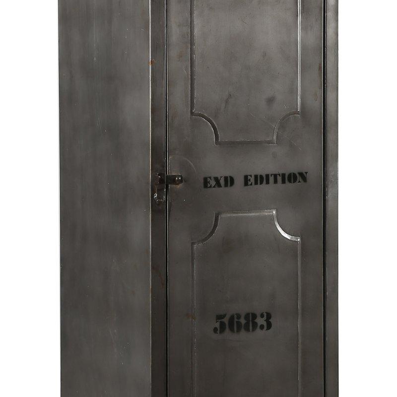 Armoire 1 porte en acier atelier metal maison et styles for Porte atelier acier