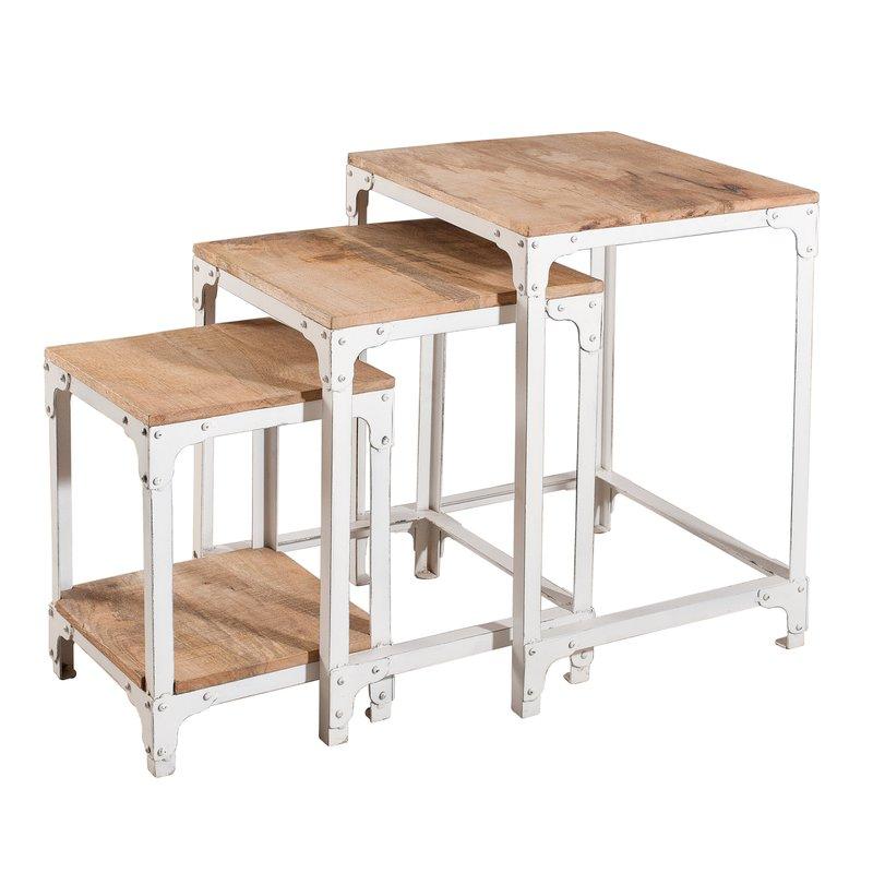 table gigogne industrielle ulysse maison et styles. Black Bedroom Furniture Sets. Home Design Ideas
