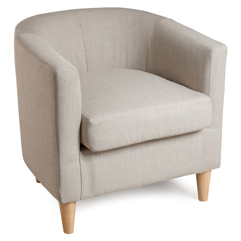 Fauteuil cabriolet tissu couleur lin PERRY
