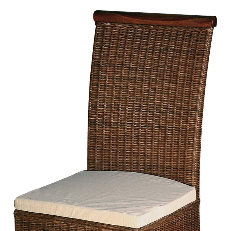 Chaise en rotin avec coussin en fibre maison et styles for Coussin pour chaise rotin