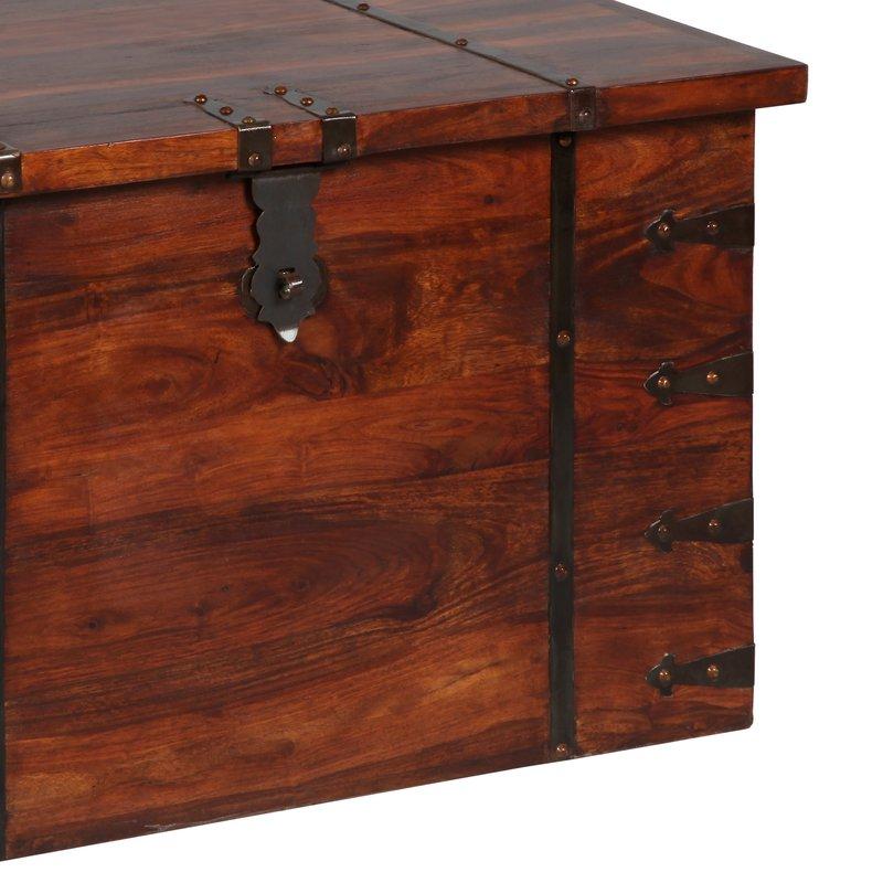 coffre en bois en acajou massif maison et styles. Black Bedroom Furniture Sets. Home Design Ideas