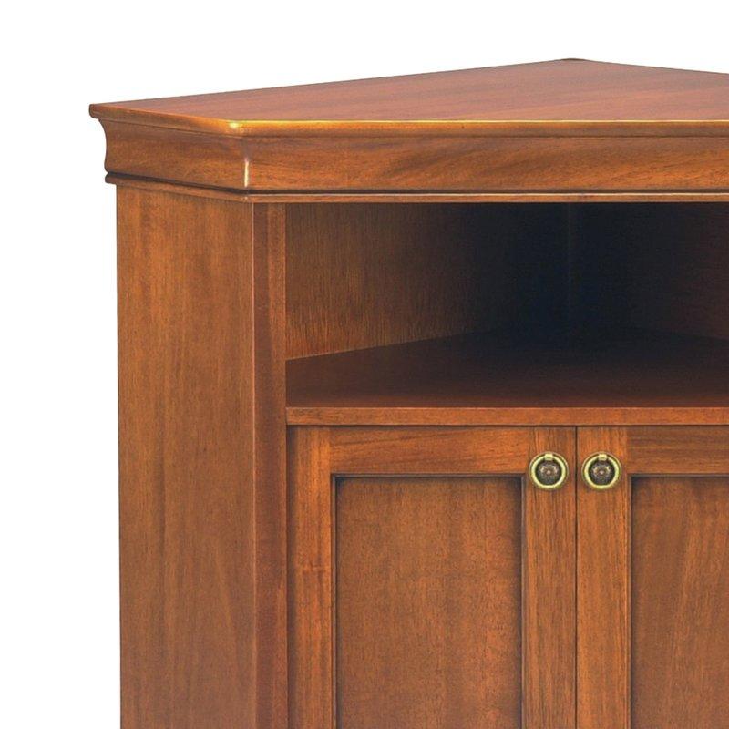 meuble tv d 39 angle en bois massif 2 portes 1 niche style louis philippe maison et styles. Black Bedroom Furniture Sets. Home Design Ideas