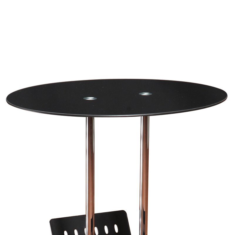porte revues plateau ovale en verre tremp maison et styles. Black Bedroom Furniture Sets. Home Design Ideas