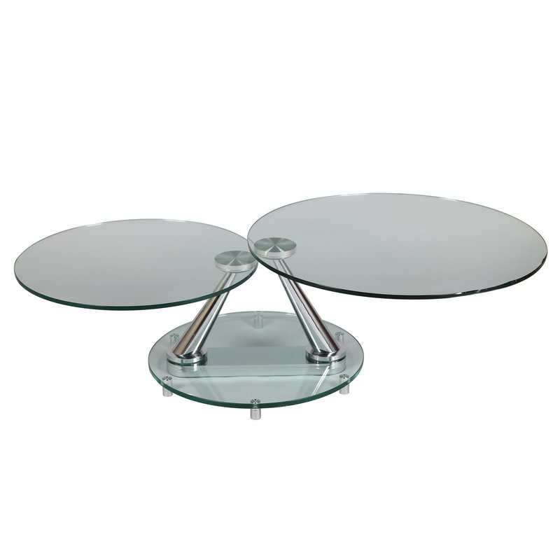 Table Basse Ovale En Verre Tremp Glass Maison Et Styles