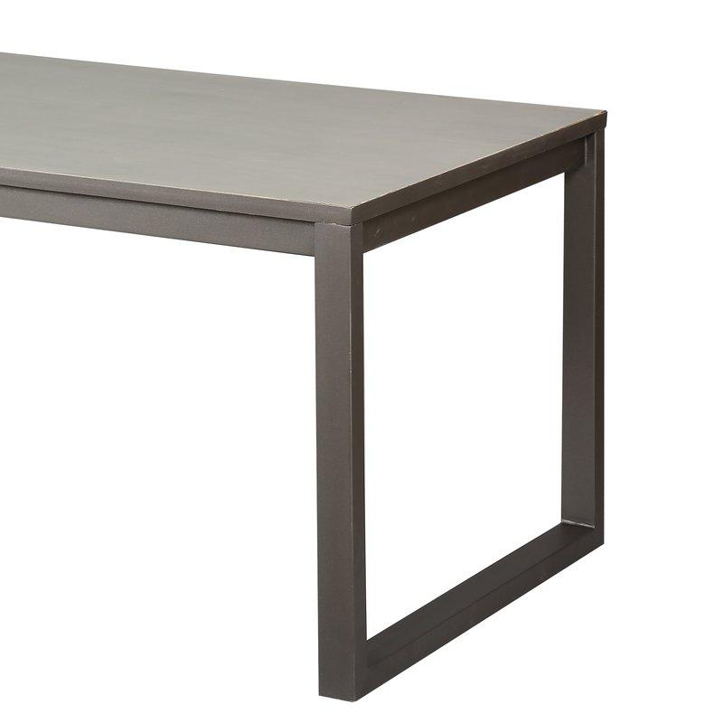 Table de salle manger en acier et bois factory maison - Table bois et acier ...