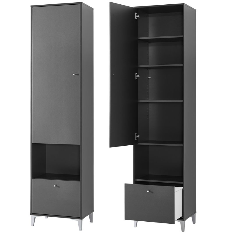 armoire penderie 49x200x40cm caisson fuchsia maison et styles. Black Bedroom Furniture Sets. Home Design Ideas