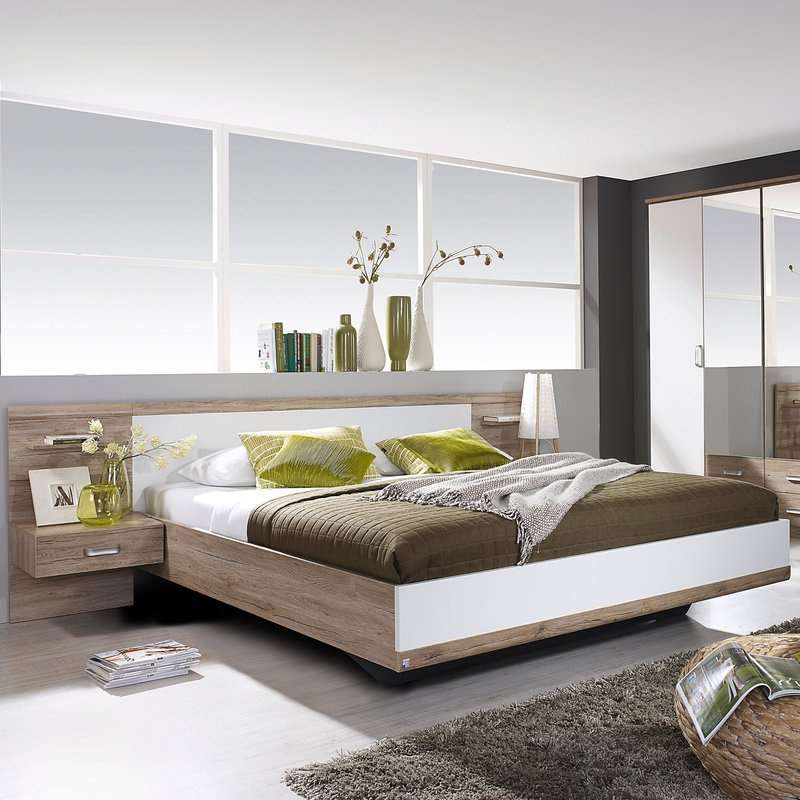lit en 180x200cm avec 2 chevets t te de lit maison et styles. Black Bedroom Furniture Sets. Home Design Ideas
