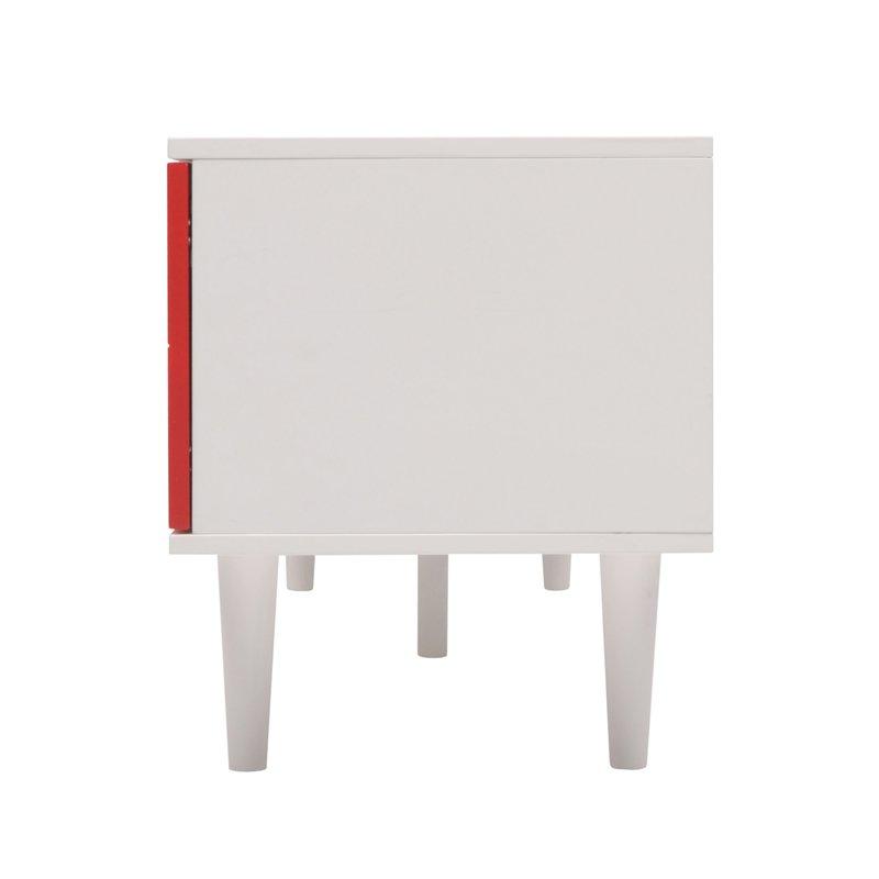 meuble t l 2 portes rouge maison et styles. Black Bedroom Furniture Sets. Home Design Ideas