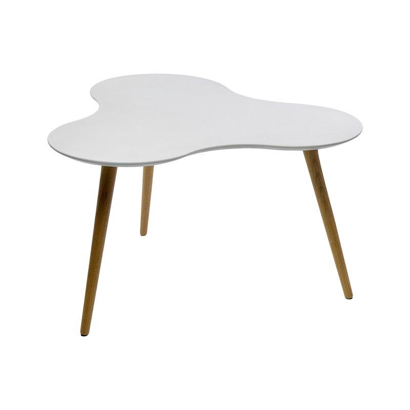 table basse en mdf plateau blanc 80x80x43cm maison et styles. Black Bedroom Furniture Sets. Home Design Ideas