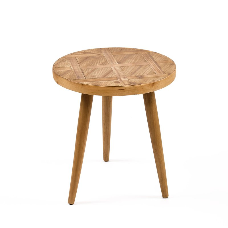 Table basse en bois naturel 50x50x55cm maison et styles - Table basse en bois naturel ...