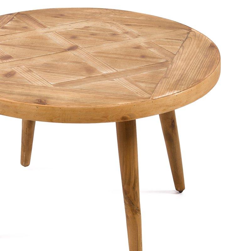 Table basse en bois naturel 70x70x45cm maison et styles for Table basse bois naturel