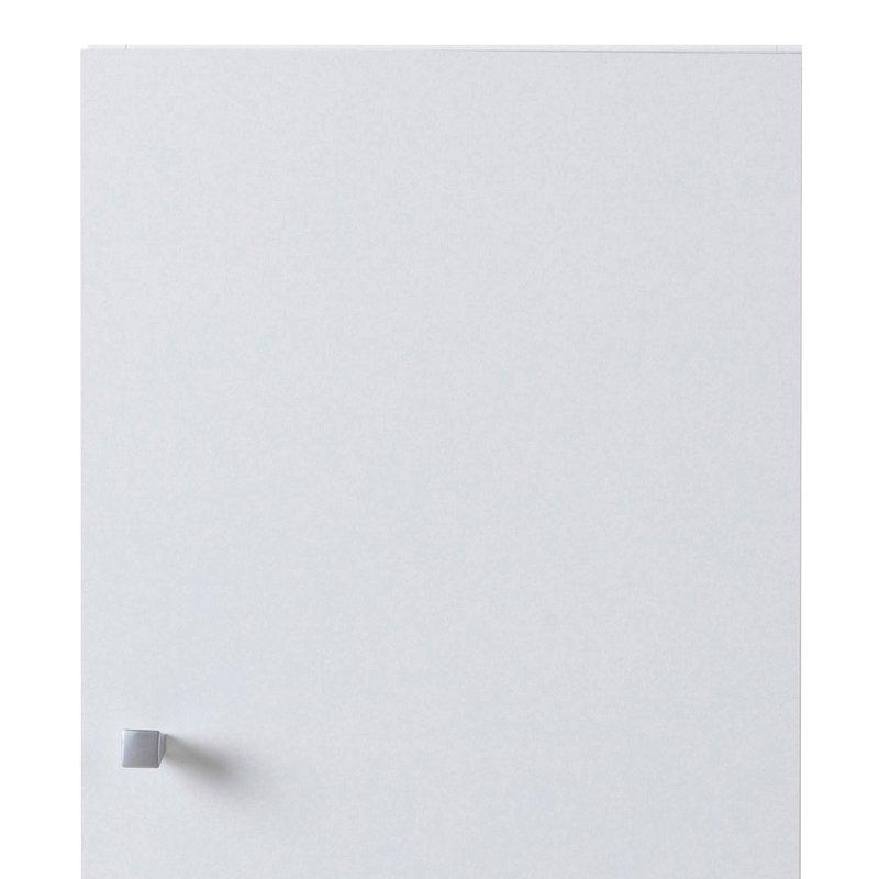 Meuble haut 1 porte l30xh56xp31cm blanc maison et styles for Meuble haut salle de bain 1 porte