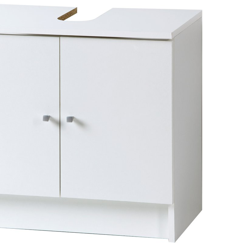 meuble sous lavabo l59xh55xp38cm blanc maison et styles. Black Bedroom Furniture Sets. Home Design Ideas