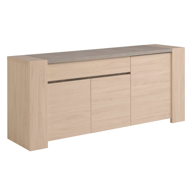 Bahut 1 tiroir 3 portes maison et styles - Sesam meuble ...