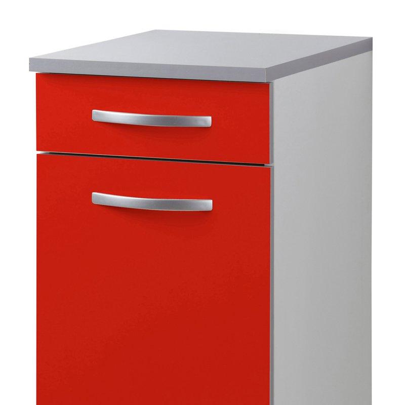 meuble bas l40xh86xp47cm rouge maison et styles. Black Bedroom Furniture Sets. Home Design Ideas