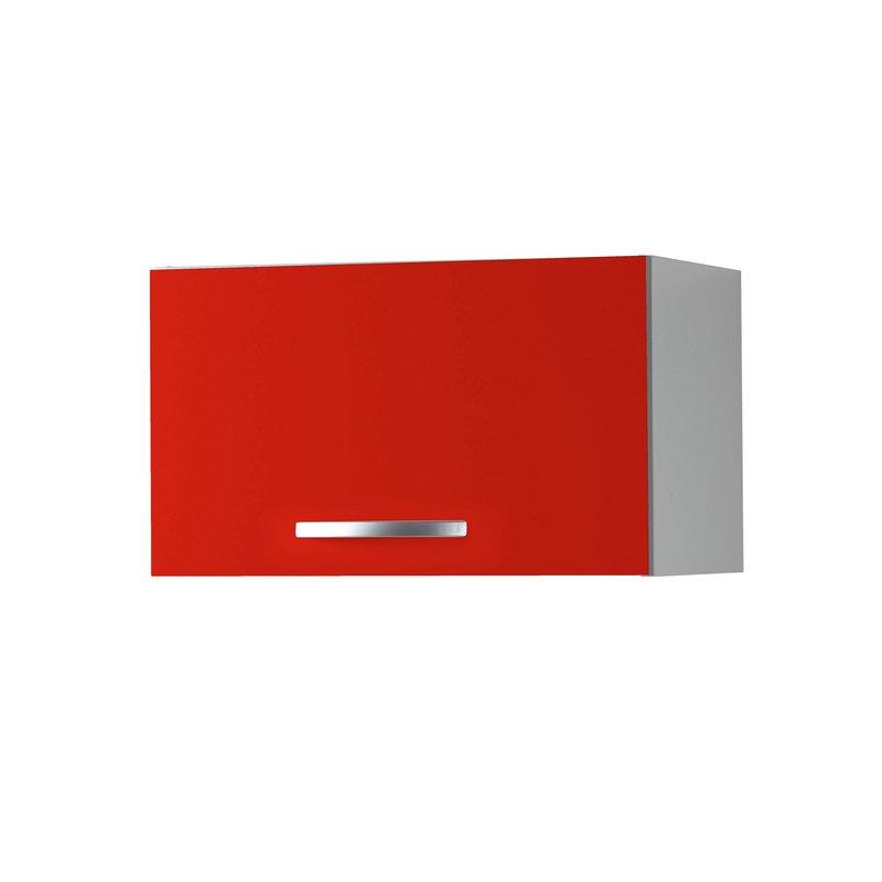 Meuble haut 1 porte l60xh35xp36cm rouge maison et styles for Meuble pour hotte