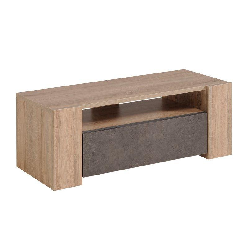 Meuble t l 1 tiroir l105xh39xp41cm maison et styles for Modele meuble tv