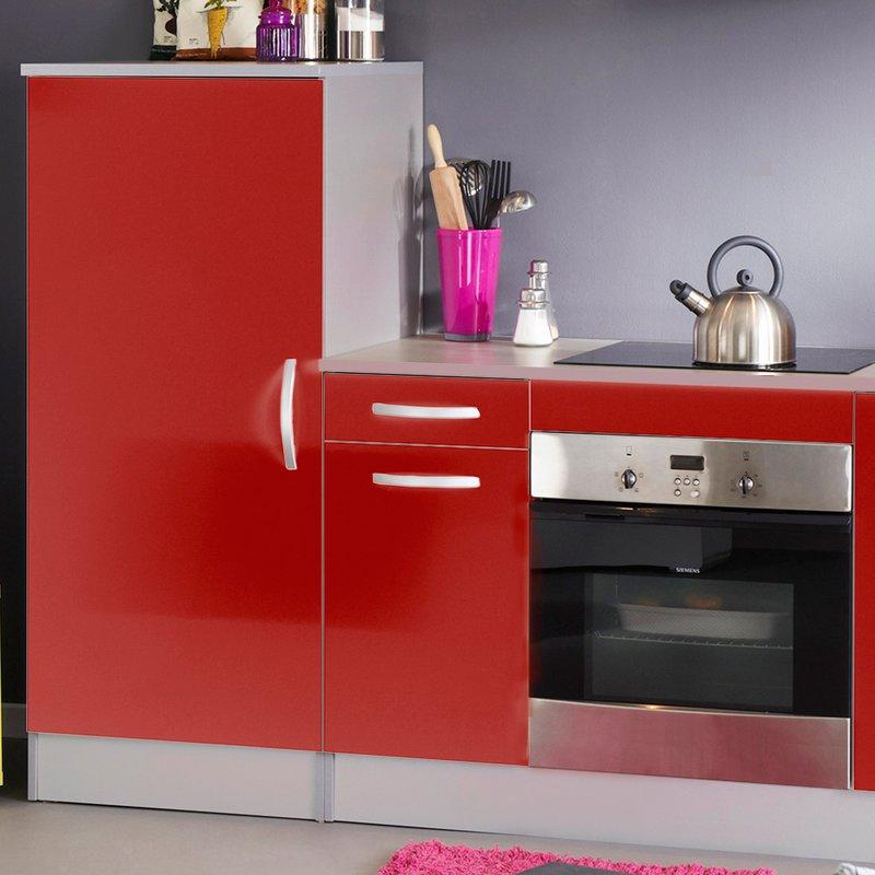 bloc de cuisine finition rouge brillant maison et styles. Black Bedroom Furniture Sets. Home Design Ideas