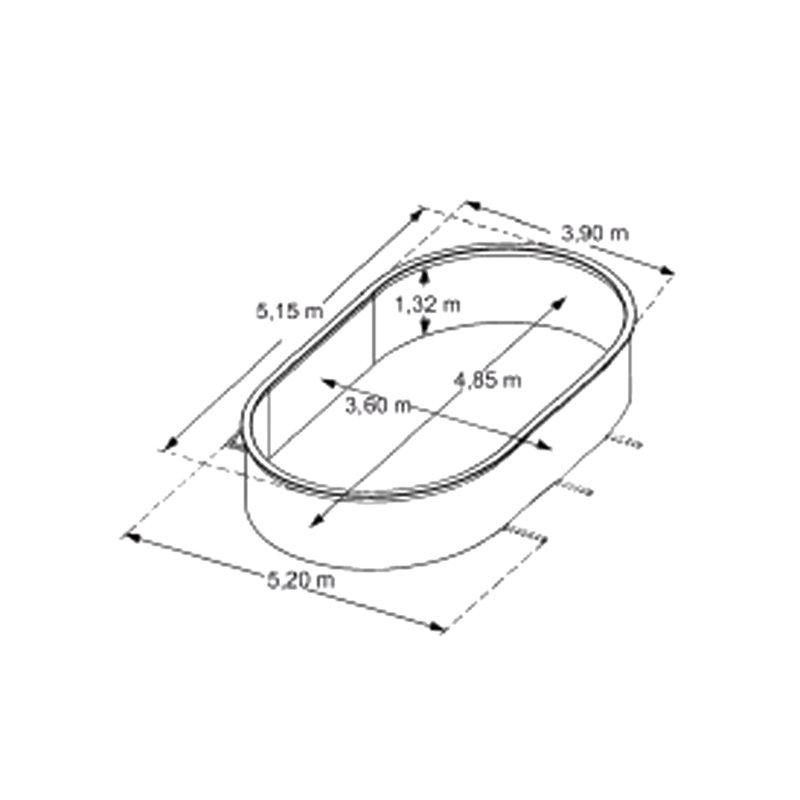piscine hors sol acier aspect bois 5 15 x 3 90 m osmose. Black Bedroom Furniture Sets. Home Design Ideas