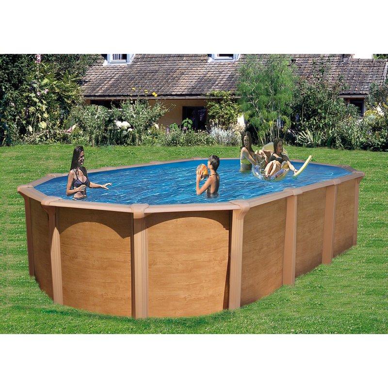 piscine hors sol acier aspect bois 7 95 x 4 90 m osmose. Black Bedroom Furniture Sets. Home Design Ideas