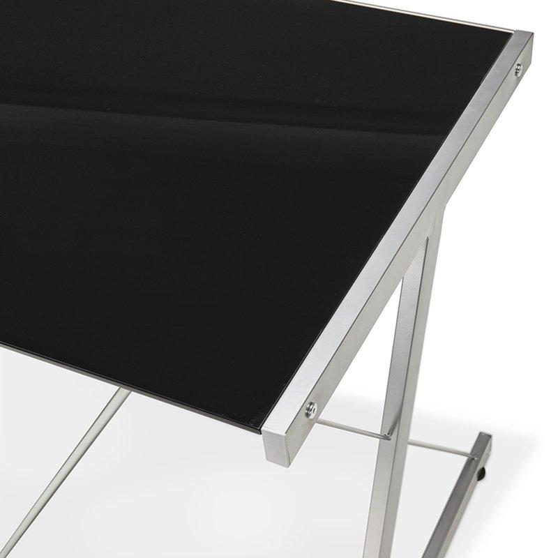 bureau design plateau en verre noir maison et styles. Black Bedroom Furniture Sets. Home Design Ideas