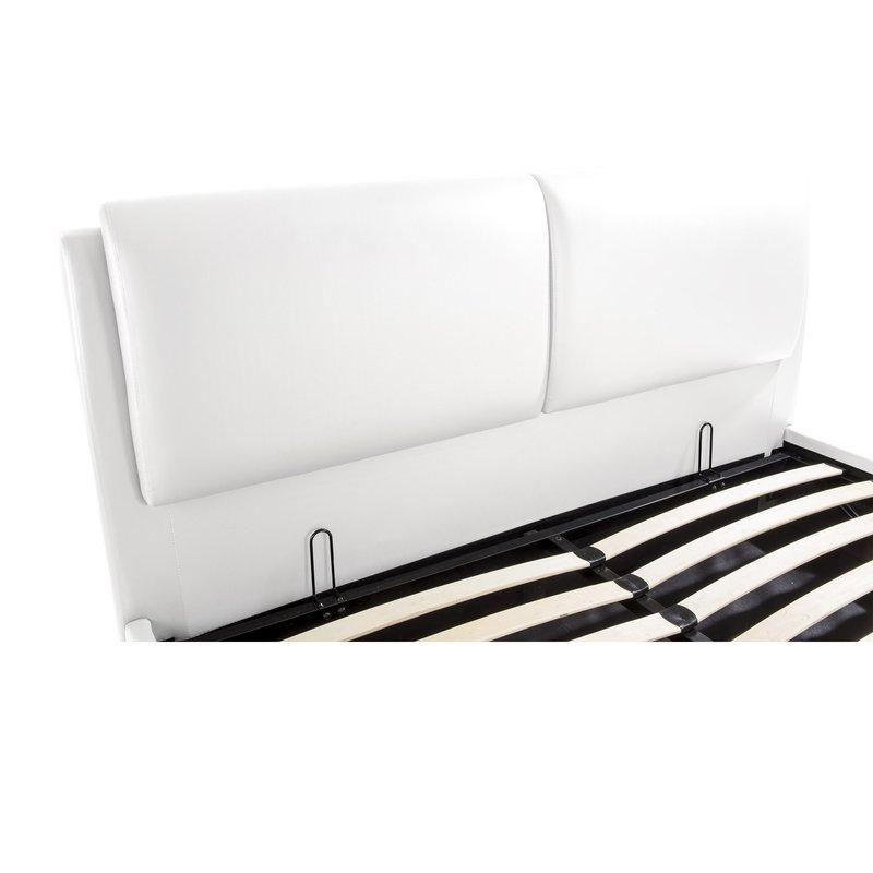 lit coffre 160x200 blanc easyclik maison et styles. Black Bedroom Furniture Sets. Home Design Ideas