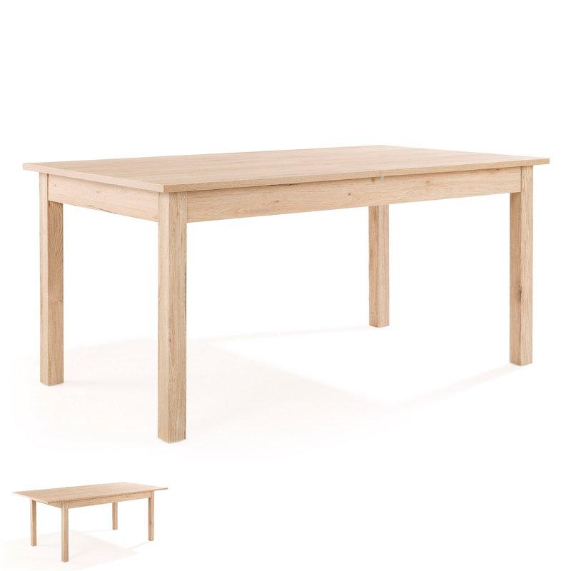 table extensible avec allonge en bois san remo 160 cm prioude maison et styles. Black Bedroom Furniture Sets. Home Design Ideas