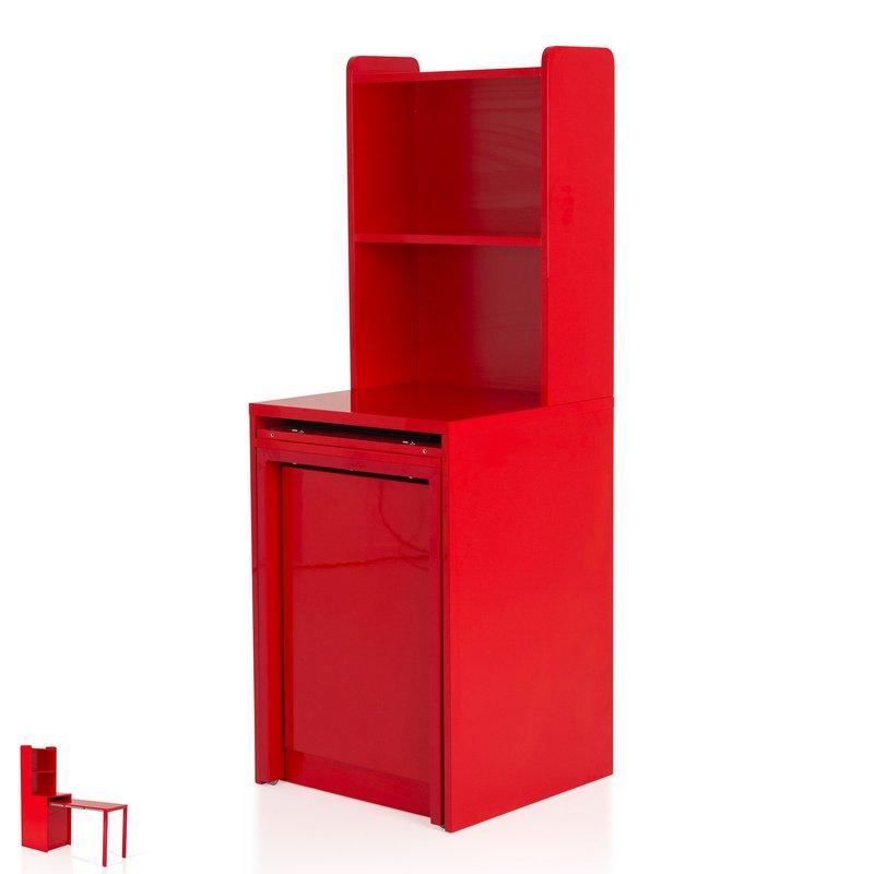 console extensible avec rangement coloris rouge evoplus. Black Bedroom Furniture Sets. Home Design Ideas